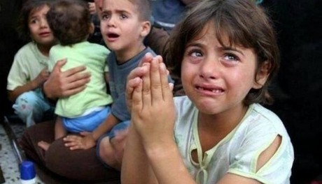 children-crying-gaza