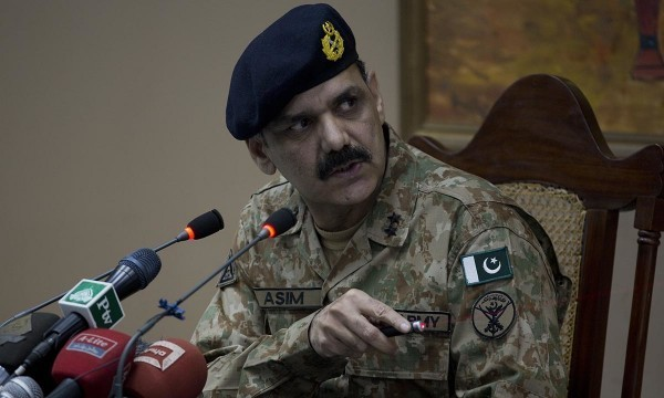 Pakistan's army spokesman Major General Asim Bajwa