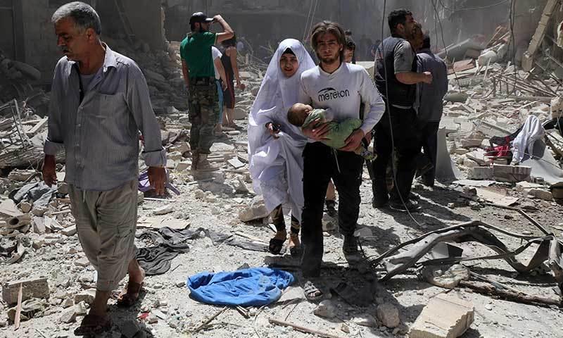 شام: ہسپتال پر بمباری میں 27 افراد ہلاک