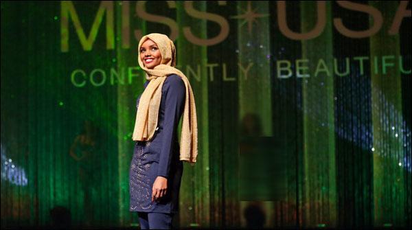 امریکا:مقابلہ حسن میں پہلی باحجاب ماڈل