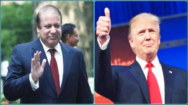 وزیر اعظم نواز شریف نے ڈونلڈ ٹرمپ کو پاکستان آنے کی دعوت دے دی