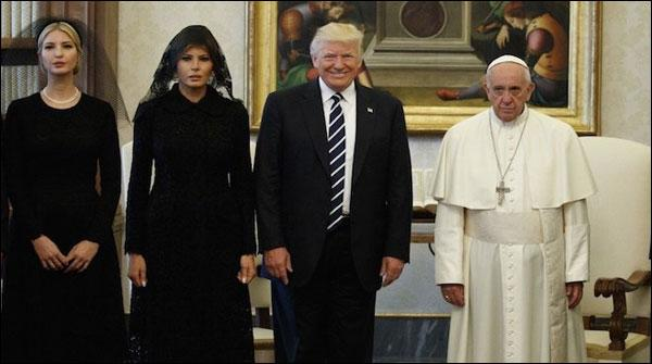 امریکی صدرڈونلڈ ٹرمپ کی پوپ فرانسس سے ملاقات