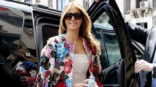 سسلی :جی سیون اجلاس میں امریکی خاتون اول کے لباس کے چرچے