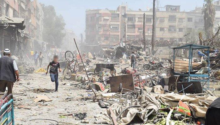 شام میں خانہ جنگی: 24 گھنٹوں میں بچوں سمیت 120 افراد جاں بحق