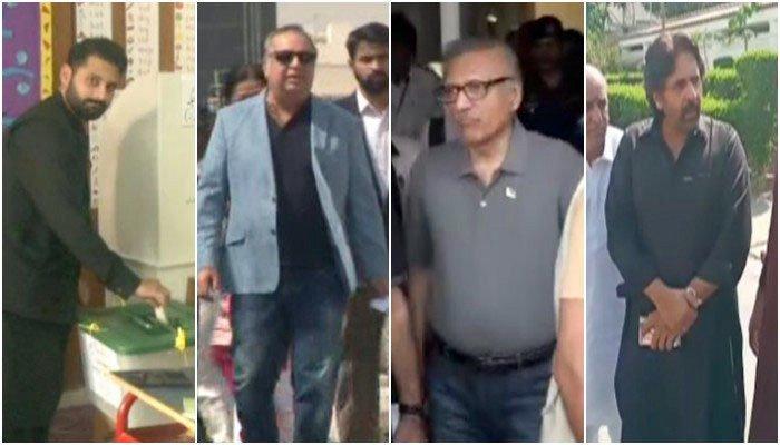 کراچی ضمنی الیکشن: کس نے کہاں ووٹ ڈالا؟