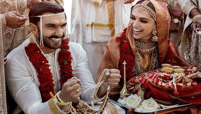 دپیکا نے شادی کی تصاویر سوشل میڈیا پر شیئر کر دیں
