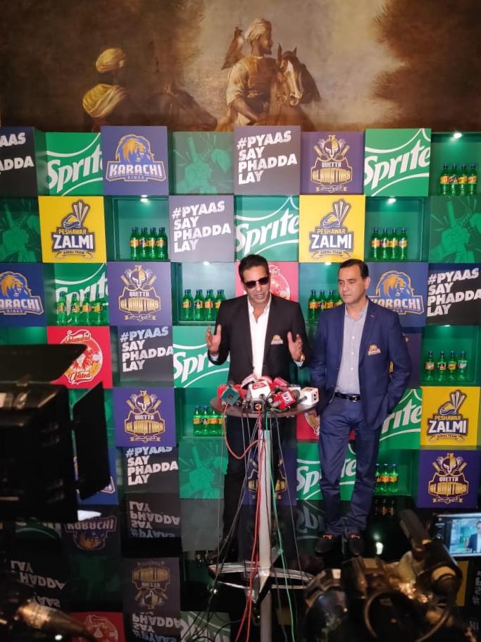 پاکستان سپر لیگ کی چار ٹیموں کے سپرائٹ کے ساتھ شراکت