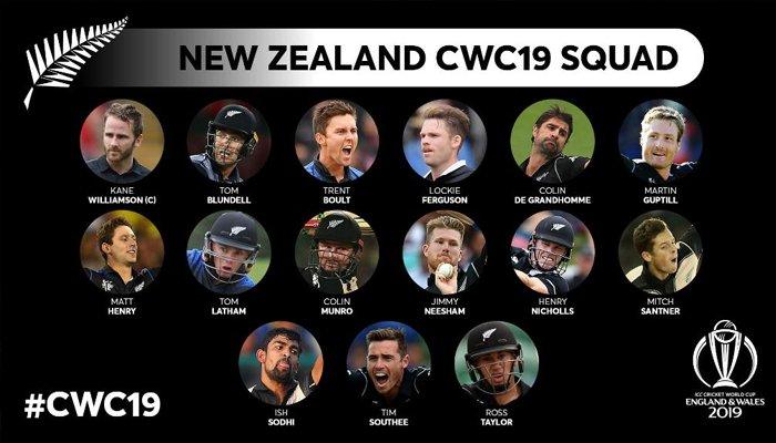 نیوزی لینڈ ورلڈکپ 2019 کیلئے اسکواڈ کا اعلان کرنے والا پہلا ملک بن گیا