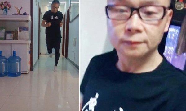 کورونا وائرس وبا: چینی شخص نے گھر کے اندر ہی میراتھن مکمل کرلی