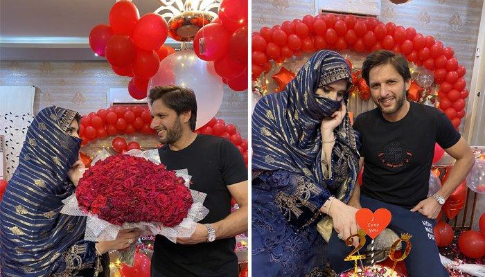 شاہد آفریدی کا شادی کی 20ویں سالگرہ پر بیوی کیلئے خاص پیغام