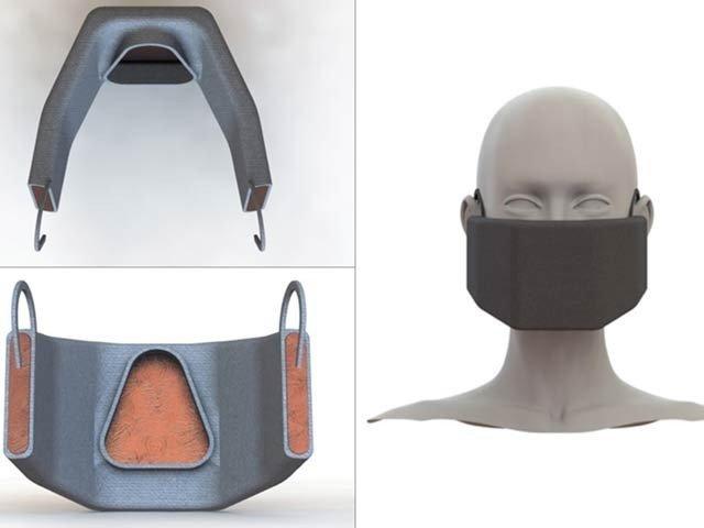 گرم ہوکر کورونا وائرس کو بھسم کرنے والا ماسک