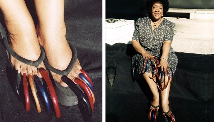 30 سال سے زائد عرصے سے ہاتھ پاؤں کے ناخن نہ کاٹنے والی خاتون