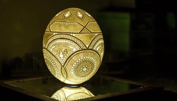 انسانی تاریخ کی سب سے بہترین انڈے پر کی گئی نقاشی