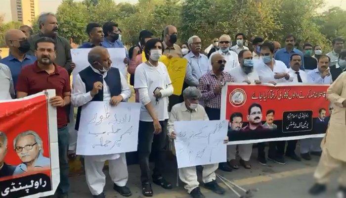 اسلام آباد میں صحافی اسد طور پر حملے کیخلاف ملک بھر میں احتجاج